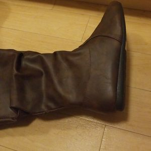 370db4f8b0e40 forever Shoes - Selina Faux Leather Boot brown pirate boots!